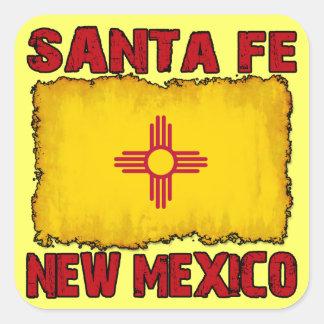 Santa Fe New Mexico Square Sticker