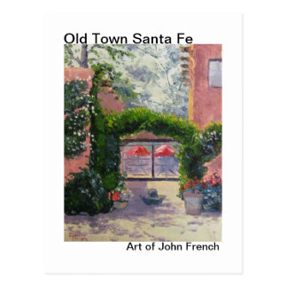 Santa Fe, NM oil painting by John French Postcard