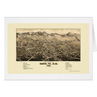 Santa Fe, NM Panoramic Map - 1882 Card