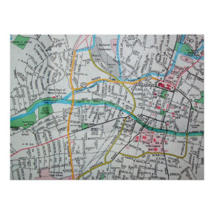 Old Santa Fe Map Gifts on Zazzle