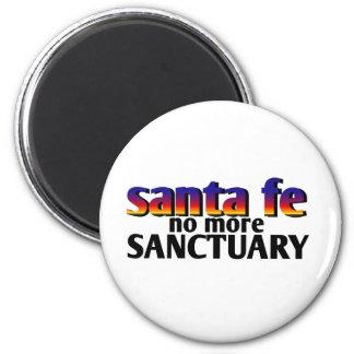 Santa Fe, no más de santuario Imán Redondo 5 Cm