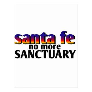 santa fe,no more sanctuary postcard