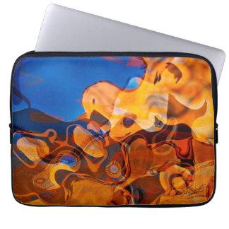 Santa Fe Rhythm Abstract Art Laptop Sleeve