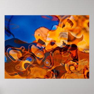 Santa Fe Rhythms Abstract Art Poster