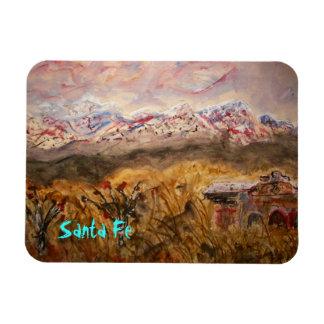 santa fe snow rectangular photo magnet
