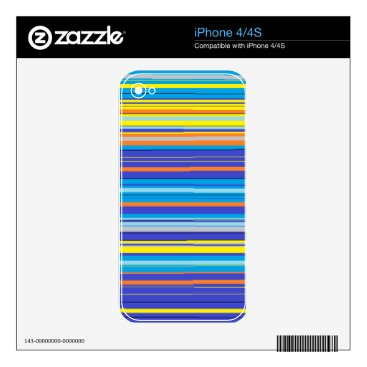 Beach Themed santa fe stripes iPhone 4S decals