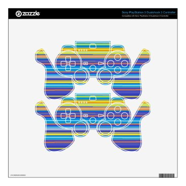 Beach Themed santa fe stripes PS3 controller decals