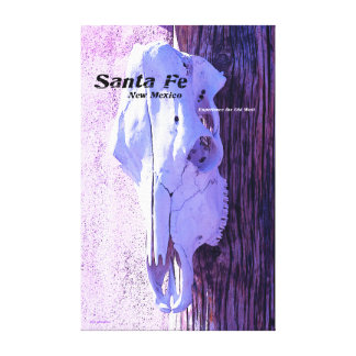 Santa Fe Style Stretched Canvas Print