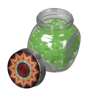 Santa Fe Summer Night, Abstract Warm Romance Glass Candy Jars