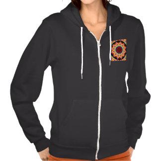 Santa Fe Summer Night, Abstract Warm Romance Hooded Sweatshirts