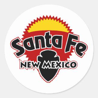 Santa Fe Sun Pegatina Redonda