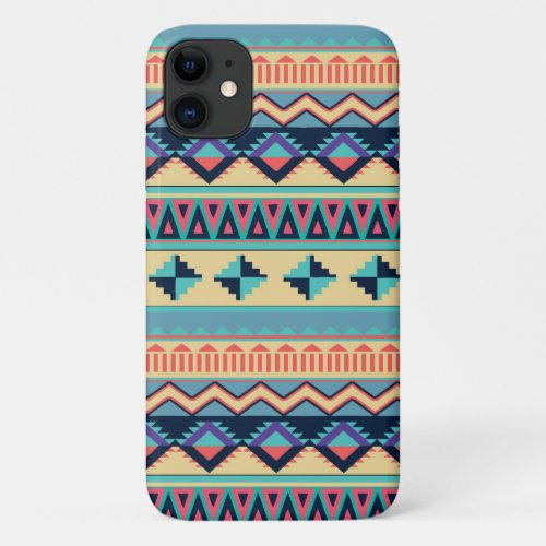 Santa Fe Sunset Tribal Rug Pattern iPhone 11 Case