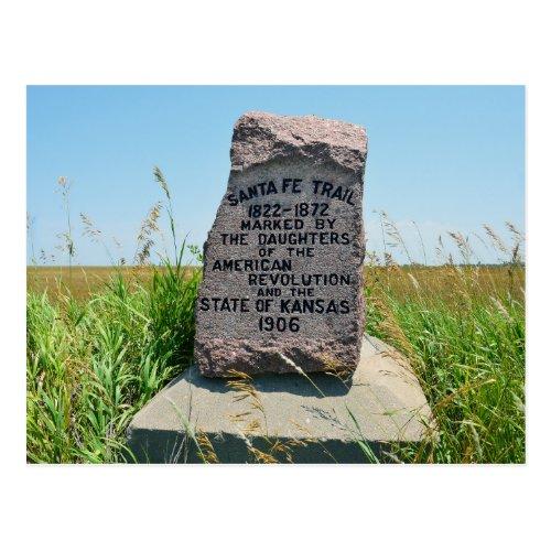 Santa Fe Trail Marker #35, Canton, Kansas Postcard