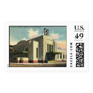 Santa Fe Train Depot, Oklahoma City OK Vintage Postage Stamps