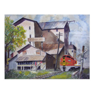 Santa Fe Train Depot-postcard
