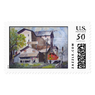 Santa Fe Train Depot-stamps Postage