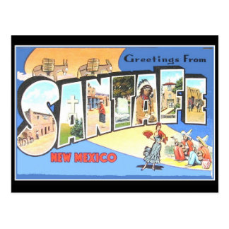 Santa Fe Vintage Travel Card