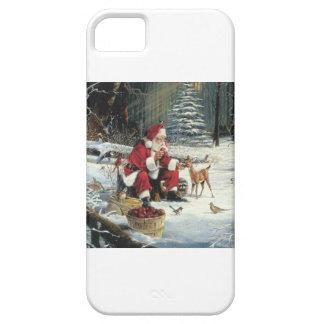 Santa feeding a baby reindeer iPhone SE/5/5s case