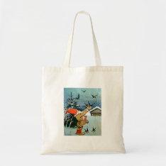 Santa Feeding Birds By Hand Crafts & Shopping Bag at Zazzle