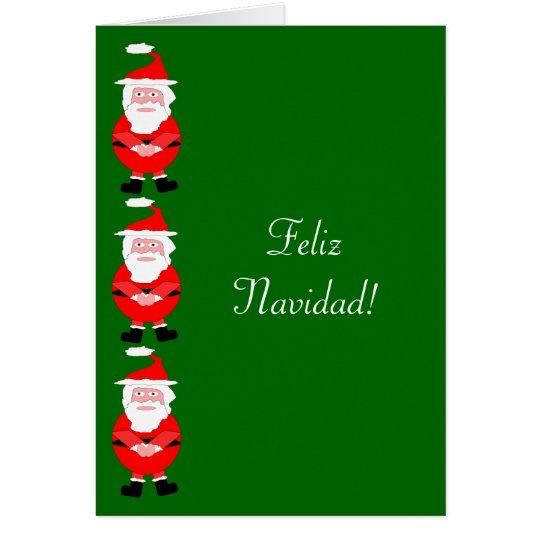 Santa Feliz Navidad Spanish Christmas Card