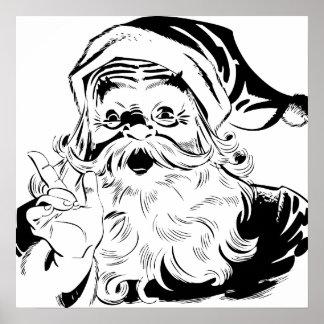 Santa feliz posters