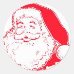Santa feliz pegatina redonda