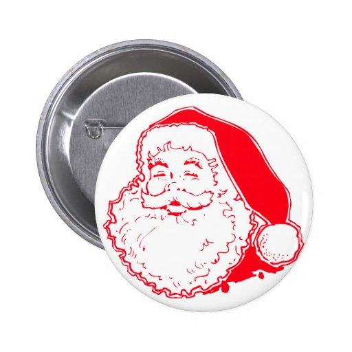 Santa feliz pin