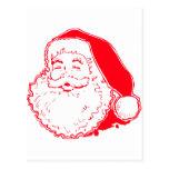 Santa feliz postal