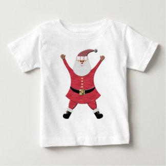 Santa feliz que salta para la alegría tshirt
