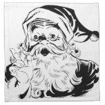 Santa feliz servilleta imprimida
