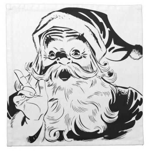 Santa feliz servilletas imprimidas