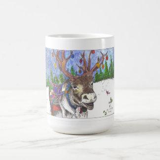 santa fell out of his sleigh! classic white coffee mug