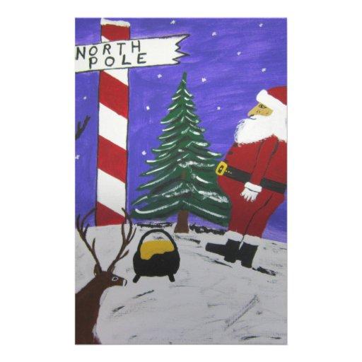 Santa Finds A pot Of Gold Stationery