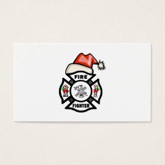 Santa Firefighter Business Card