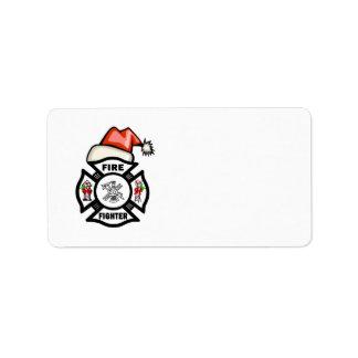 Santa Firefighter Address Label