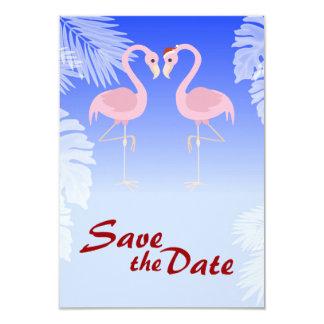 Santa Flamingo Christmas Wedding Save the Date Custom Announcements