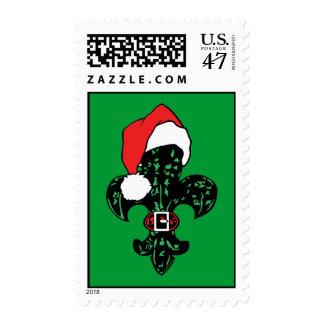 Santa Fleur de lis (2) Postage Stamps