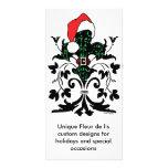Santa Fleur de lis Photo Greeting Card