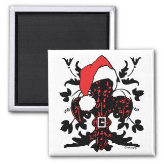 Santa Fleur de lis (red) Magnet