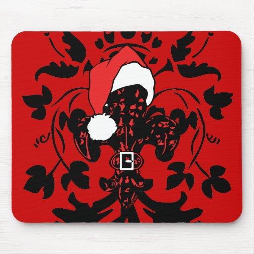 Santa Fleur de lis (red) Mouse Pad
