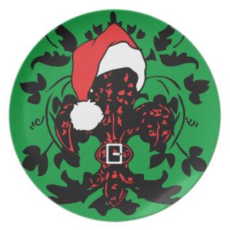 Santa Fleur de lis (red) plate