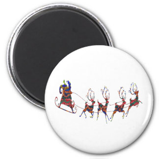 Santa Flies Magnet