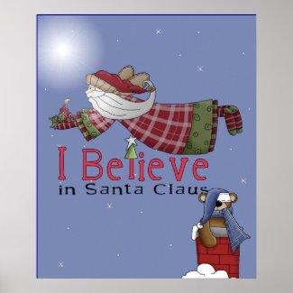 Santa Flies Posters