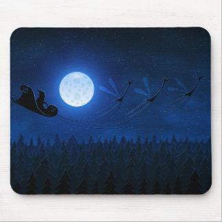 Santa Flying 2 Mouse Pad