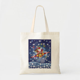 Santa Flying Airplane Bag