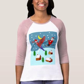 Santa Flying to Christmas Eve Night T-Shirt