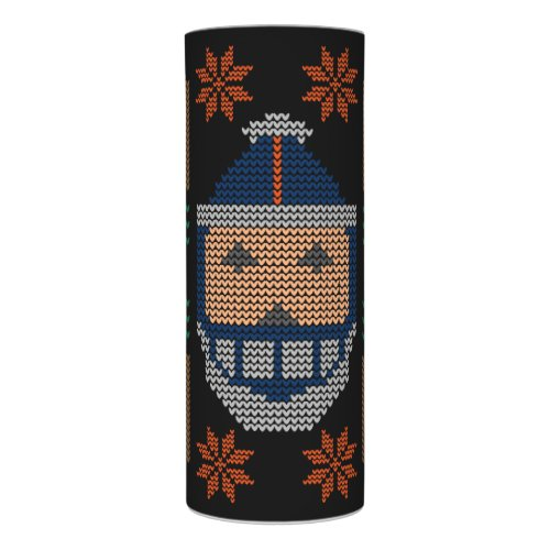 Santa Football Blue Orange Ugly Christmas Sweater Flameless Candle