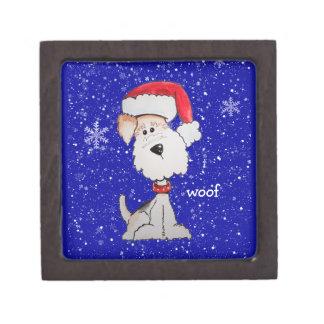 Santa Fox Terrier (Customizable) Jewelry Box