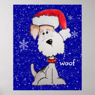 Santa Fox Terrier (Customizable) Poster