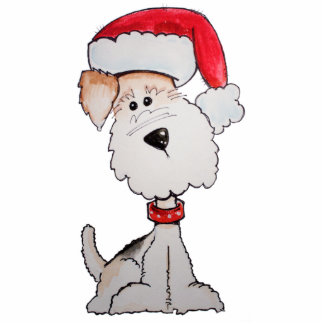 Santa Fox Terrier Photo Sculpture